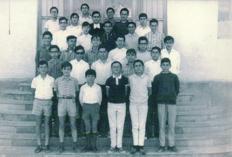 Hno. Uldarico y Clase de 3º de Bachillerato Curso 1967-68
