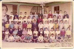 Clase de alumnos. Década de 1970.