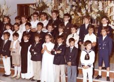 Primeros Comulgantes en la década de 1970