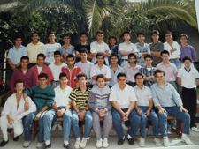 Clase 2º de Electricidad curso 1988-89
