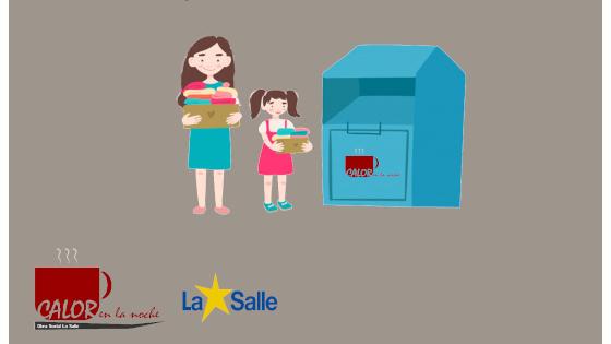Imagen destacada del Cartel para la campaña de recogida de ropa de Calor en la Noche en abril 2021