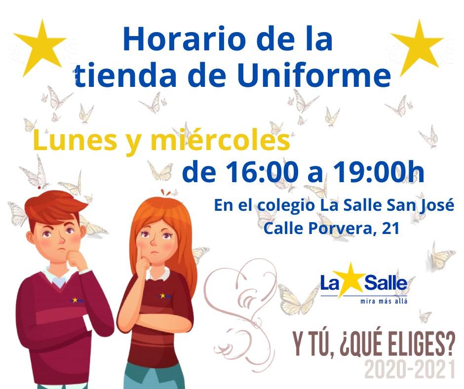 Lunes y miércoles de 16:00 a 19:00 en La Salle San José