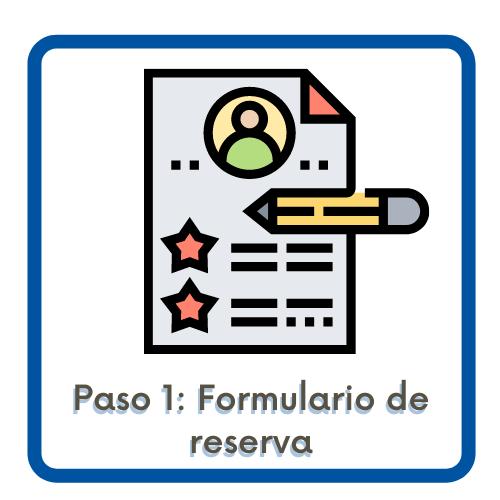 Acceso al formulario de reserva de plaza